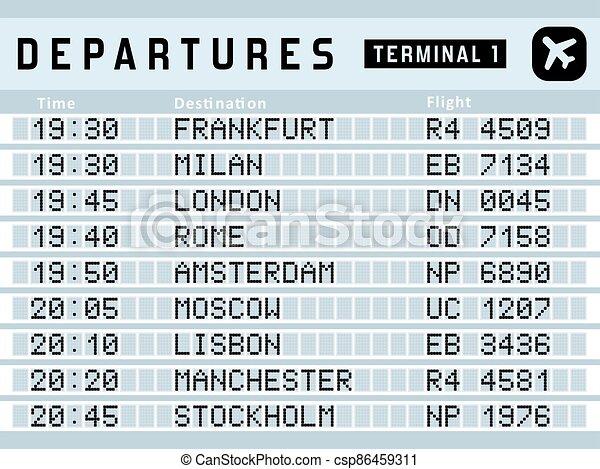 Airport timetable - csp86459311