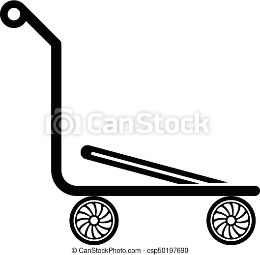 airport trolley icon simple black style airport trolley eps rh canstockphoto ca trolley clipart free shopping trolley clipart