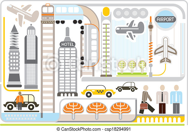 Airport - vector illustartion - csp18294991