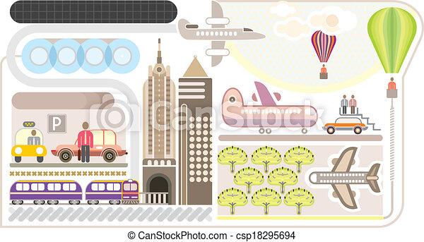 Airport - vector illustartion - csp18295694