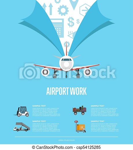Airport work poster for commercial airline - csp54125285