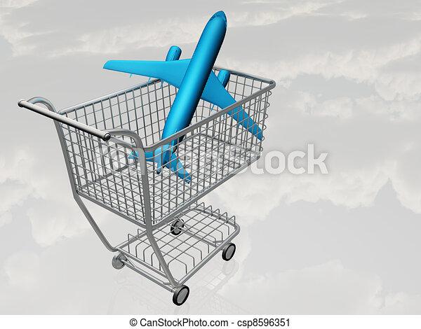 Airtravel Shopping - csp8596351