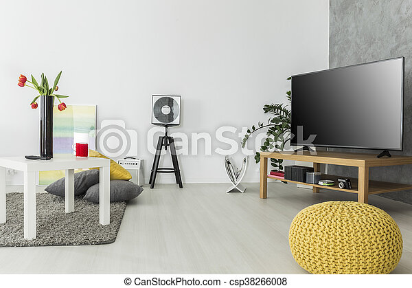 Airy interior for enthusiasts of good movies - csp38266008