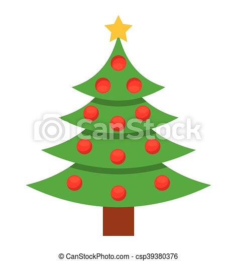 Aislado árbol Navidad Pino Icono árbol Aislado Ilustración