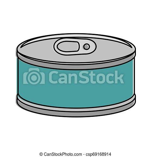 El atún puede aislar el icono - csp69168914
