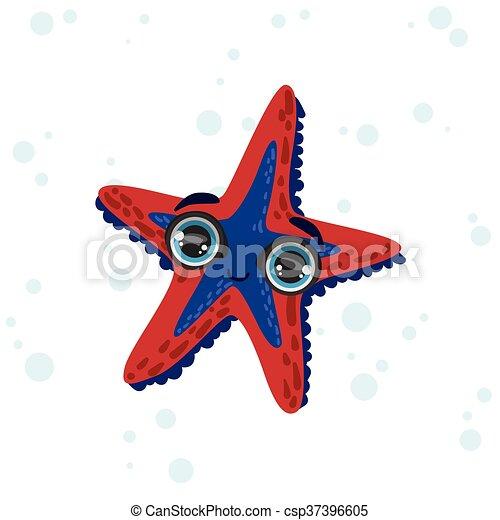 Aislado Estrellas De Mar Dibujo Estilo Color Estrella Mar