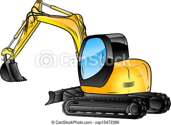 Excavador aislado - csp15472386