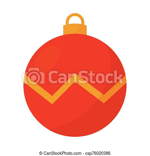 aislado, icono, pelota de navidad - csp76020386