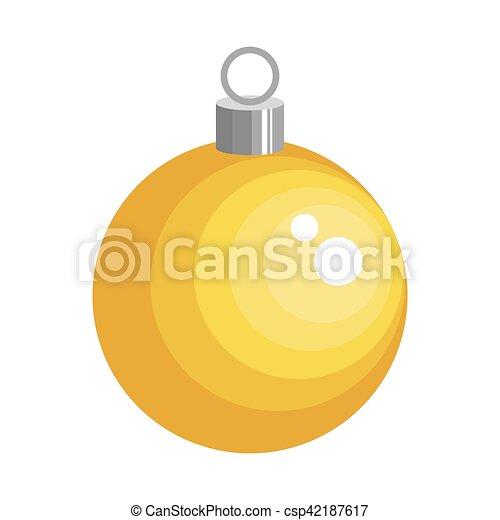 Bola de Navidad icono aislado - csp42187617