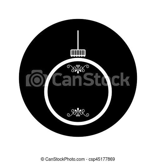 Bola de Navidad icono aislado - csp45177869