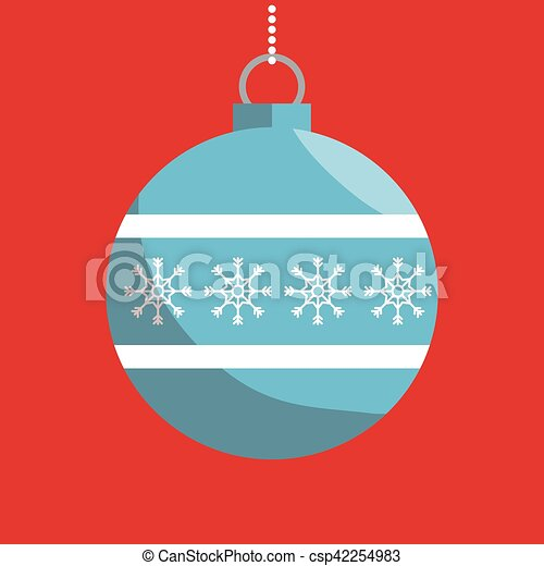 Bola de Navidad icono aislado - csp42254983
