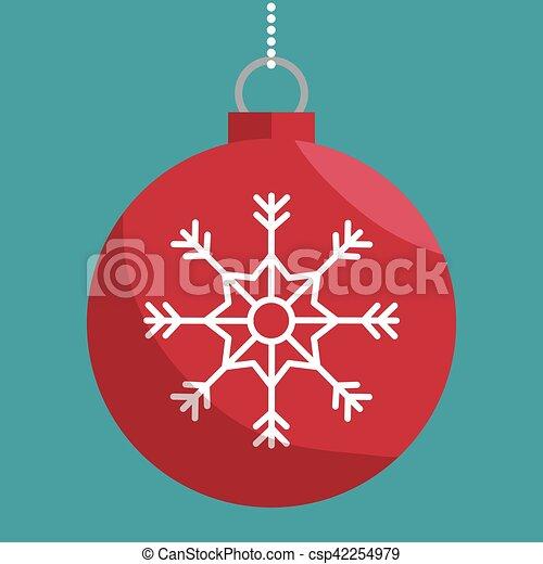 Bola de Navidad icono aislado - csp42254979