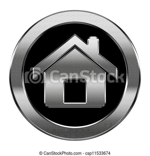 Plata de icono casero, aislada de fondo blanco - csp11533674
