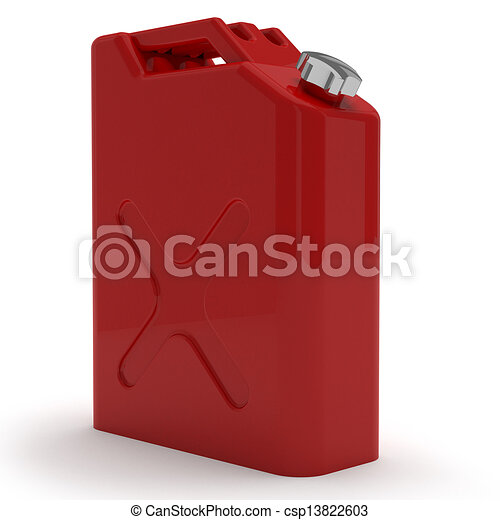 Red retro Jerrican aislado - csp13822603