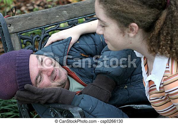 aiuto, senzatetto, uomo - csp0266130