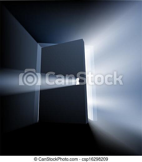 Ajar door light beam concept - csp16298209