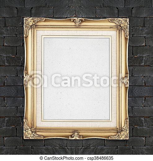 ajouter photo or couleur vendange cadre mur noir photos de stock rechercher des. Black Bedroom Furniture Sets. Home Design Ideas