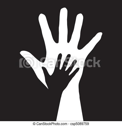 ajudando, hands. - csp5089759