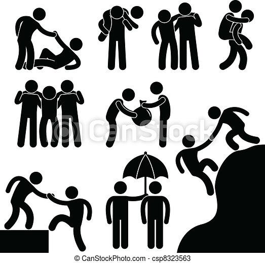 ajudando, outro, negócio, amigo, cada - csp8323563