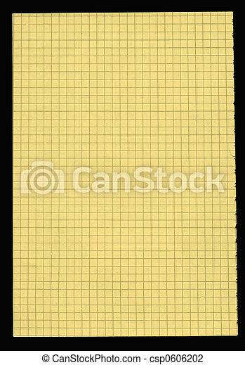 Un pedazo de papel amarillo al cuadrado - csp0606202