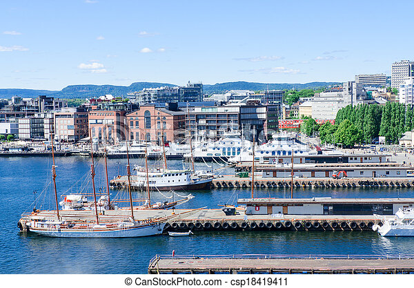 Aker Brygge Oslo Norway - csp18419411