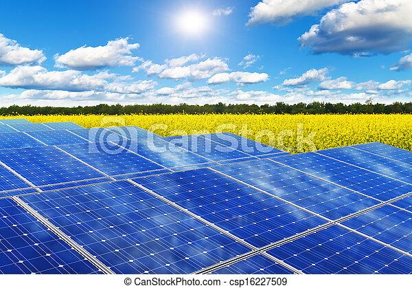 akker, panelen, zonne, aanranding - csp16227509