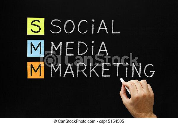 akronim, media, towarzyski, handel - csp15154505