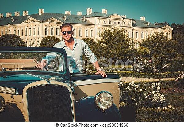 aktatáska, klasszikus, fiatal, magabiztos, gazdag, átváltható, ember - csp30084366