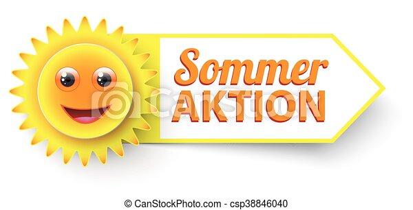 Akción divertida de sol sommer - csp38846040
