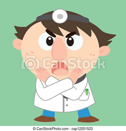 aktiv, ableugnung, doktor - csp12251523