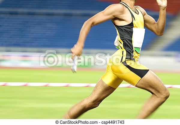 Athlet in Aktion - csp4491743