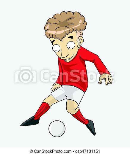 Aktiv Spieler Fussball Ball Tritt