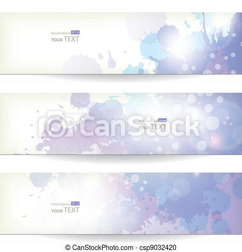akwarela, wektor, tło - csp9032420