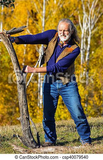 El ejercicio del hombre mayor - csp40079540