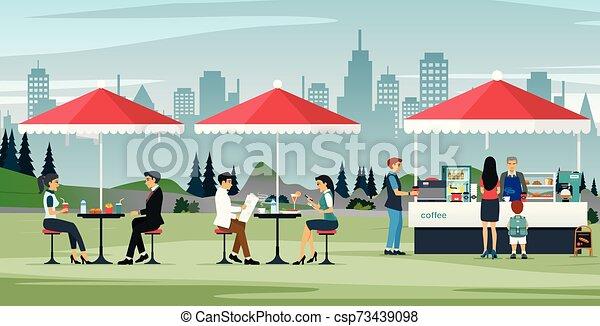 Cafés al aire libre - csp73439098