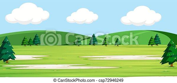La escena del parque al aire libre - csp72946249
