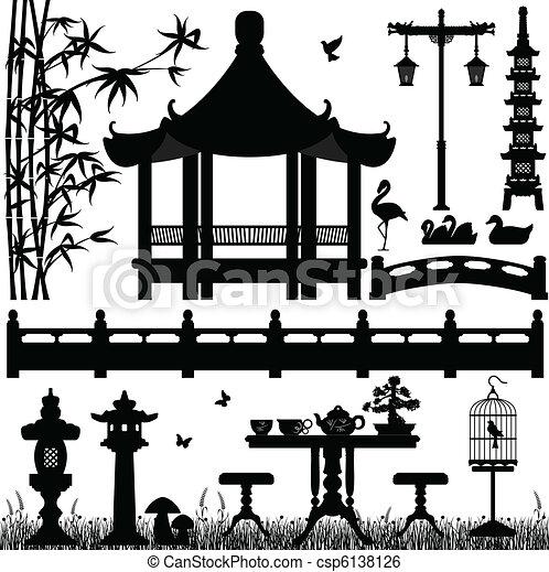 Jardín parque recreativo al aire libre - csp6138126