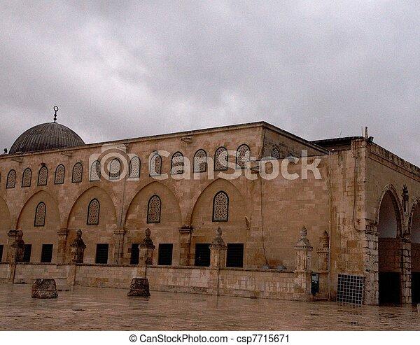 Al Aqsa mosque in Jerusalem - csp7715671