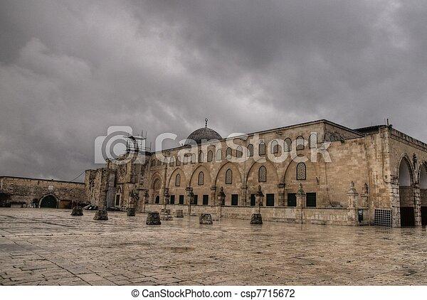 Al Aqsa mosque in Jerusalem - csp7715672