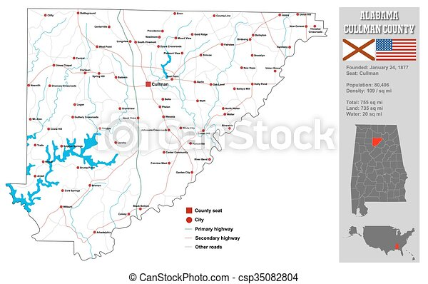 Alabama cullman county map. Large and detailed map and infos about ...