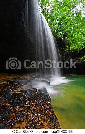 Alabama Forest Waterfall Landscape - csp24433153