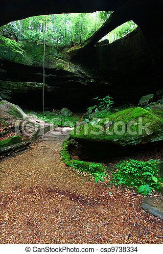 Alabama Natural Rock Bridge - csp9738334