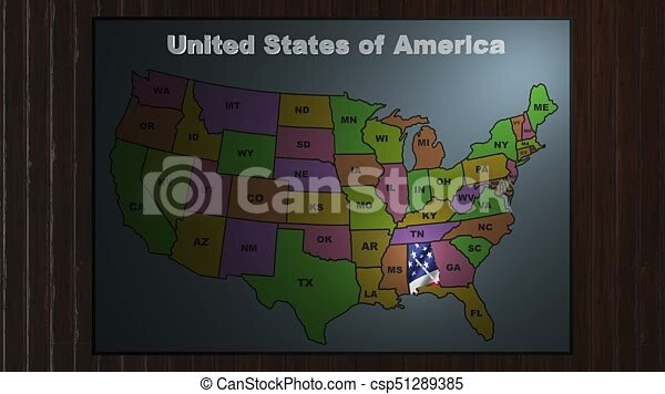 Alabama pull out from usa states abbreviations map. State alabama ...