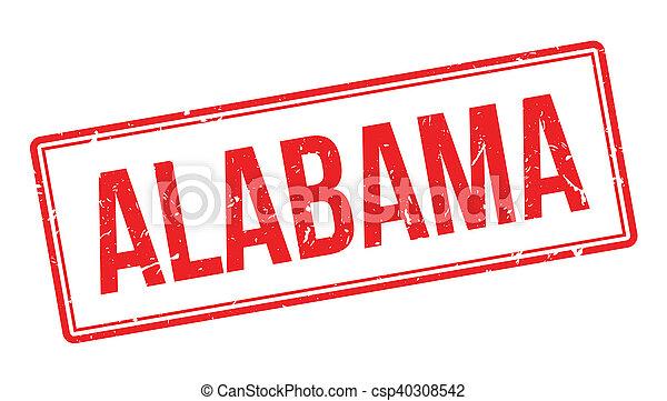 Alabama rubber stamp - csp40308542
