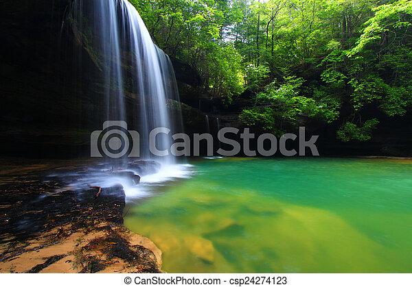 Alabama Waterfall Landscape - csp24274123