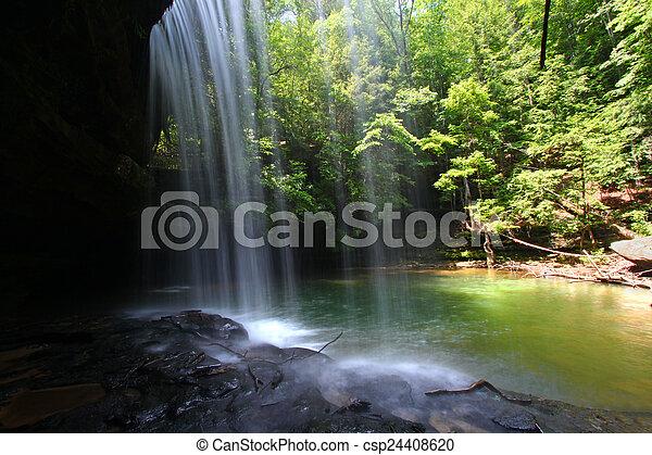 Alabama Waterfall Landscape - csp24408620