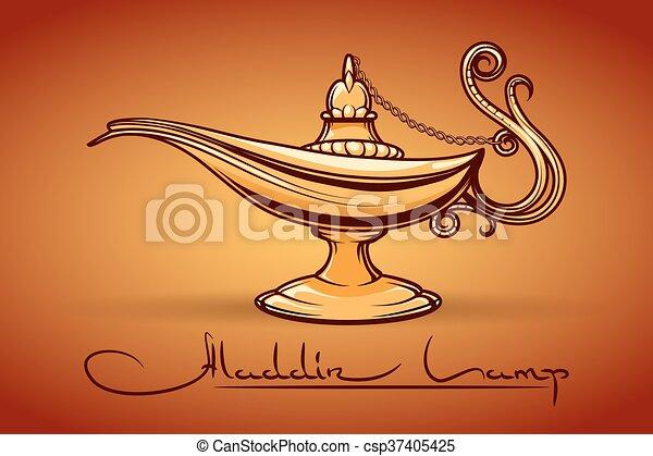 Aladdin Magic Lamp   Csp37405425