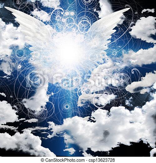 alado, ángel - csp13623728