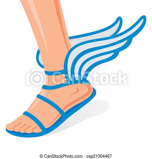 Zapatos alados - csp21004467