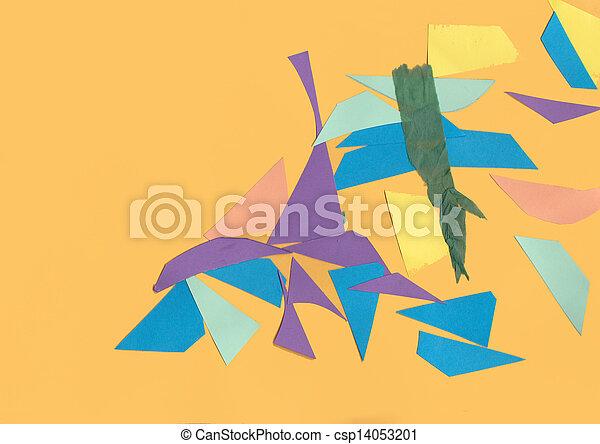 alakzat, elvág, kartonpapír, ki - csp14053201